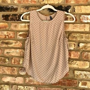 Divided H&M Beige Reverse Hi-Lo Tank Top